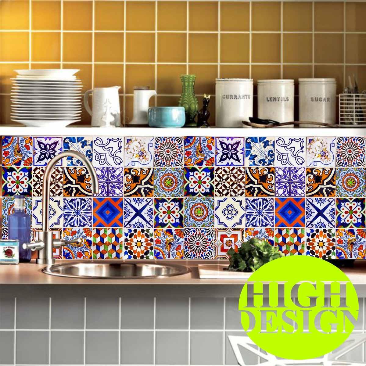 Bobina papel de parede ladrilho hidr ulico azulejo for Papel adhesivo para azulejos