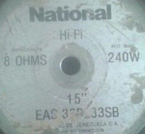 bobina para corneta national eas 8 ohmios 240w