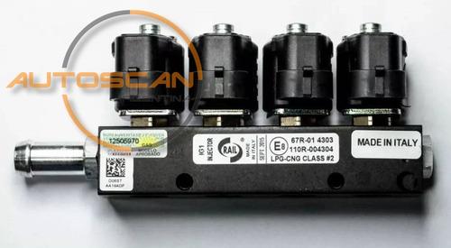 bobina rampa inyectores rail gnc 5ta generación italia