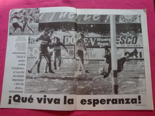boca un sentimiento n° 105 1992 poster villareal, estudiante