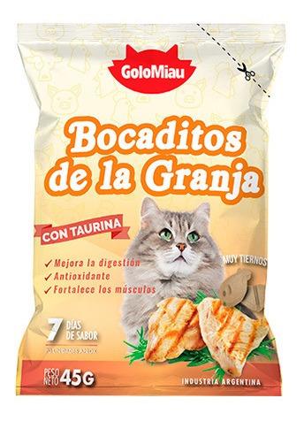 bocaditos de la granja para gato golomiau x 45 gr