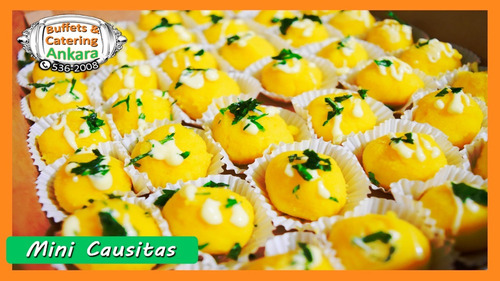 bocaditos salados y dulces| pack 400 bocaditos a s/.250.00
