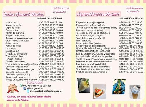 bocaditos / sanguchitos - 100 50 25und