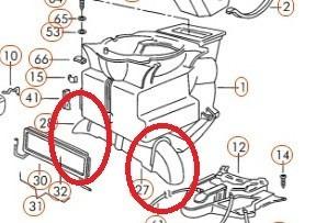 bocal difusor de ar inferior caixa de ar gol quadrado