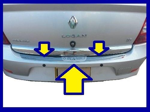 bocel protector cromado de baul - parachoque renault logan