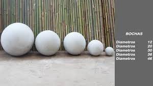 bocha fibrocemento 30 cm bola decoracion
