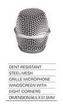 bocha microfono metal parquer m-2