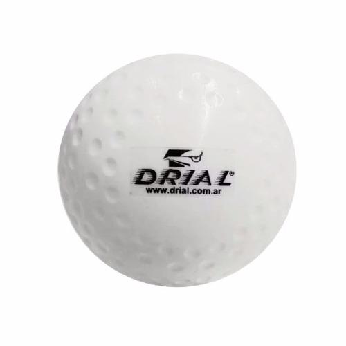 bocha / pelota de hockey dimple drial - pack x 10 unidades