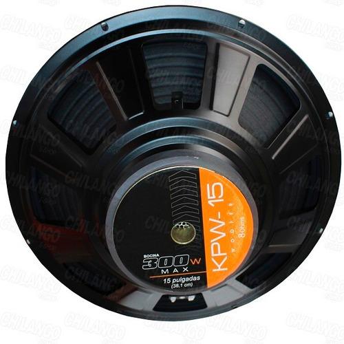 bocina 15 ideal para medios 300w maximos
