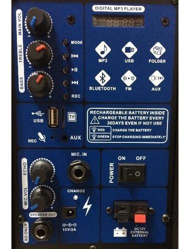 bocina 8 amplificada recargable bluetooth audiobahn 8abfm