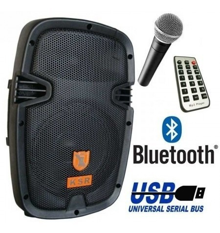 bocina 8 recargable bluetooth usb sd aux bafle kaiser 7908