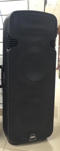 bocina amplificada tipo torre 2x15 smt 2000w y subwoofer amp