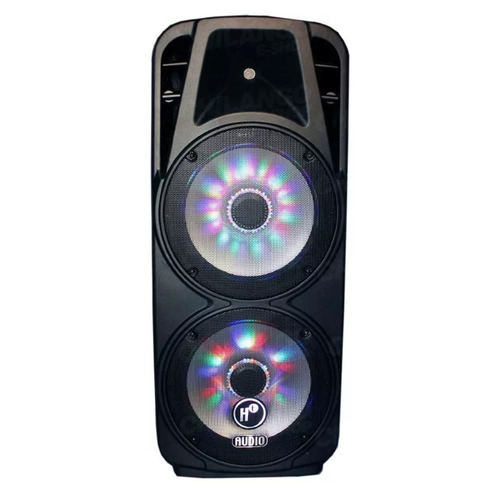 bocina bafle hf audio amplificado doble 15  bluetooth 150w