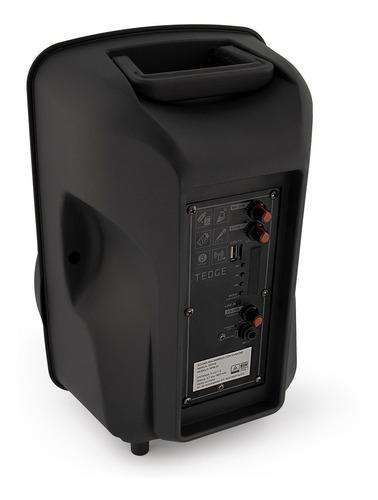 bocina bafle portátil - tedge - 8 pulgadas bluetooth recargable con karaoke, micrófono y control remoto