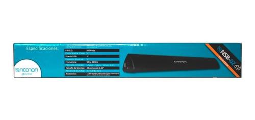 bocina barra de sonido necnon nsb-02 televisión pantalla