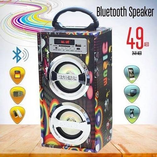 bocina bluetooch con pantalla led radio fm usb