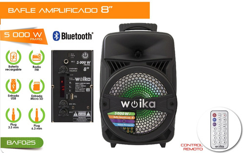 bocina bluetooth 8 recargable usb sd fm luz aux bafle 025