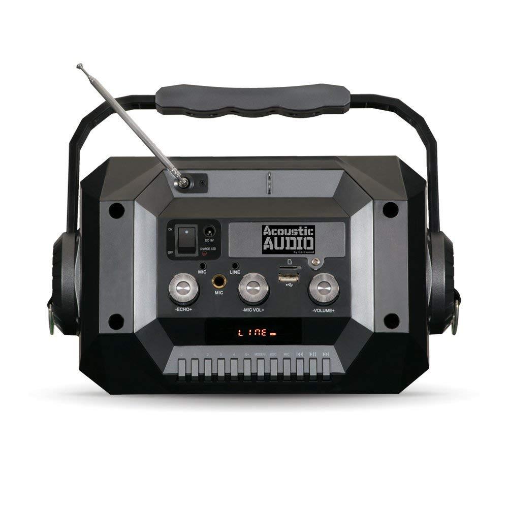 Bocina Portatil Con Microfono Y Bateria Recargable Para Fiestas Playa Campamento