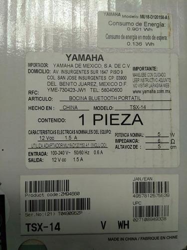 bocina bluetooth portátil marca yamaha para iphone/ipod