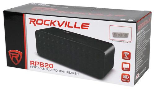 bocina bluetooth rockville 30 watts / 10 horas batería / aux