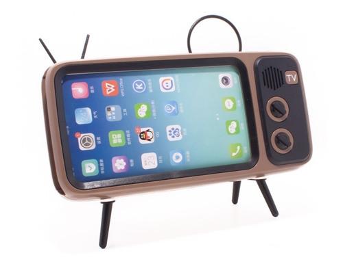 bocina bluetooth y soporte en forma de tv, recargable
