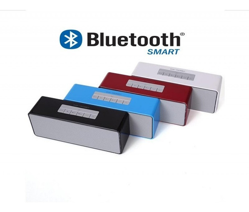 bocina bluetooth/recargable/portatil mod. cuadrada azul