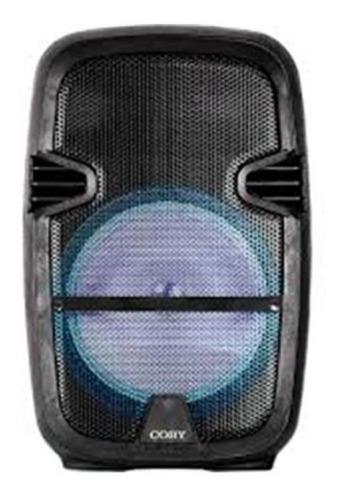 bocina coby 8  con microfono, control, bluetooth, negras (cp