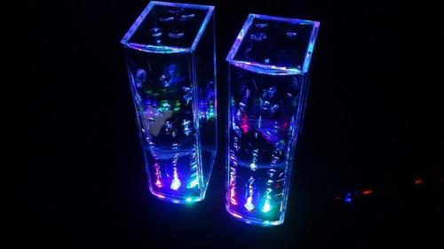 bocina con agua danzante show fuente colores usb 3.5mm