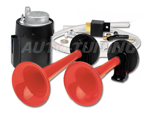 bocina de aire 2 cornetas tipo rutera potente sonido con compresor