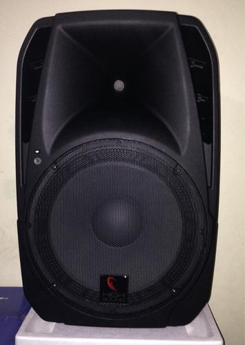 bocina de15 baffle amplificado 1500w bluetooth usb fm radio