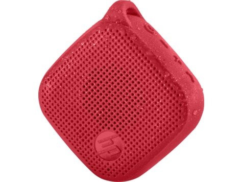 bocina hp roja bluetooth, mini speaker 300w, con funda