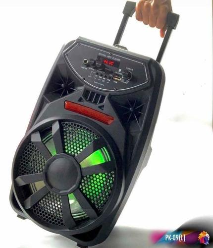 bocina mediana con microfono radio amplificador bluetooth