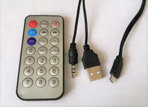 bocina portátil bluetooth fm mp3 micro sd/usb control a distancia