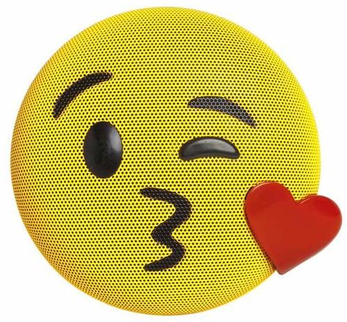 bocina portatil emoji beso bluetooth speaker aux recargable