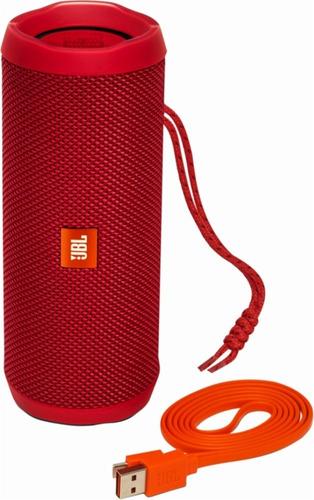 bocina portatil jbl flip 4 roja original nueva caja sellada