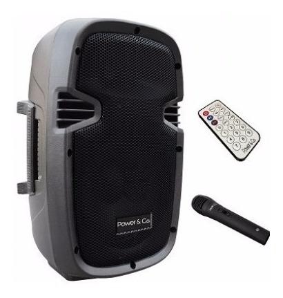 bocina power&co, 4,200 watts, bluetooth, batería, microfono