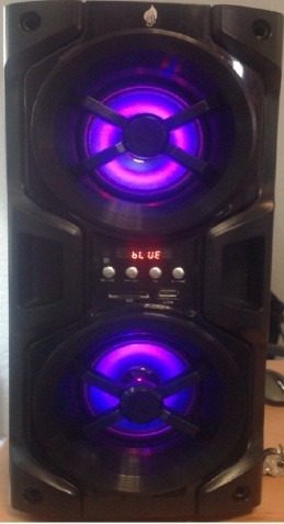 bocina recargable bluetooth usb sd mp3 aux fm display 9426