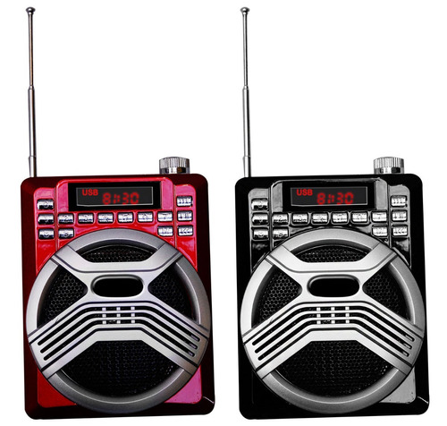bocina recargable con multientradas + microfono de diadema