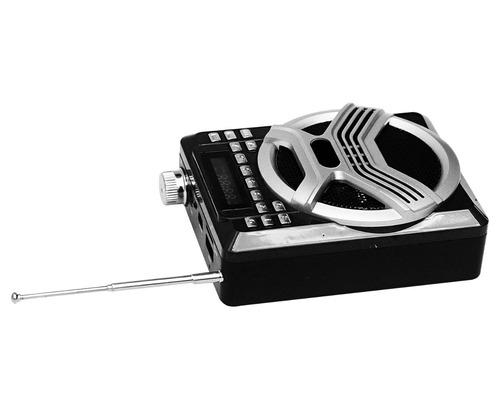 bocina recargable con multientradas y  microfono de diadema