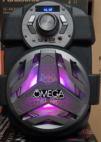 bocina recargable de 6.5 omega con 2 link steelpro nueva