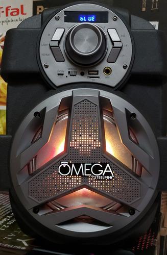 bocina recargable steelpro omega con 2 link steelpro nueva