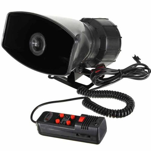 bocina sirena policial pato con megafono 5 tonos/ promoferta