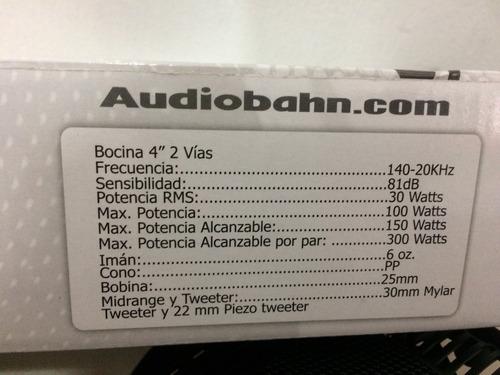 bocinas audiobahn 4 pg  300w as40y