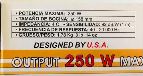 bocinas carro dxr 6.5 pg 250w 065-707