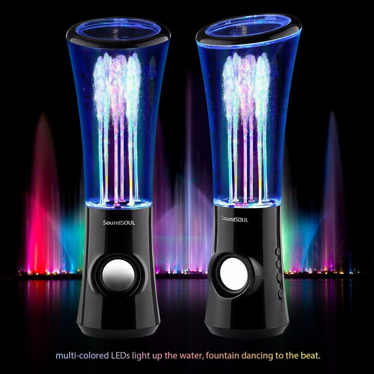 Bocinas Con Fuente De Agua Mini 6 Luces De Colores Led