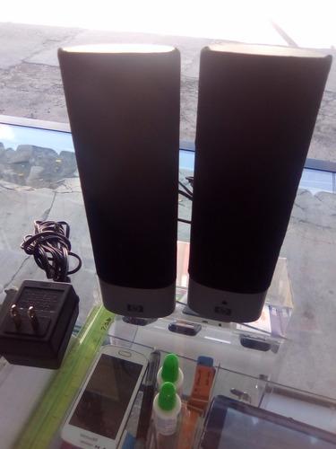 bocinas hp para reparar, suenan demasiado bajo, conector 3.5