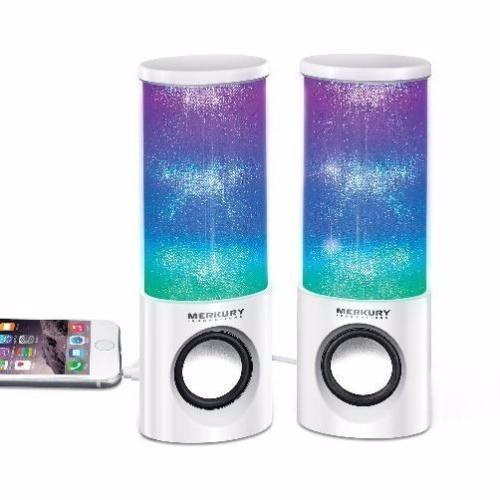 bocinas parlantes pc laptop celular show de luz led usb hue