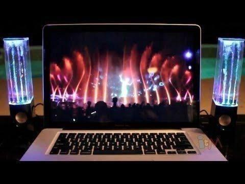 bocinas parlantes show agua danzante audioritmico de colores