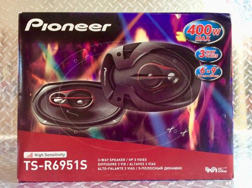 bocinas pioneer ts-r6951s 6x9 pulgadas 400w 3vias