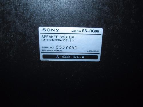 bocinas sony ss-rg88
